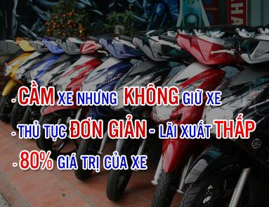 cầm cà vẹt xe máy